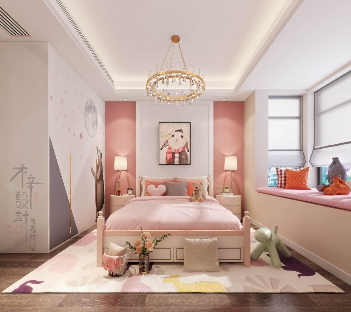 2020现代简约儿童房装饰设计 2020现代简约背景墙装修图