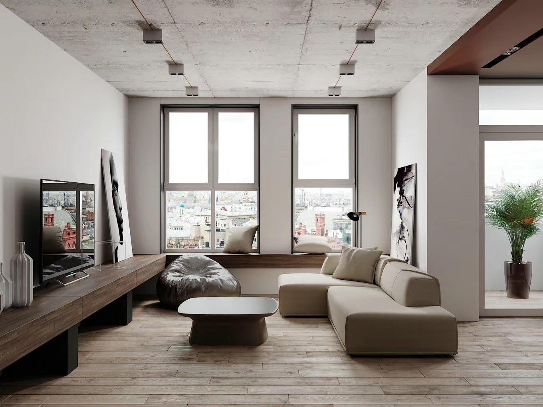 2020工业150平米效果图 2020工业三居室装修设计图片