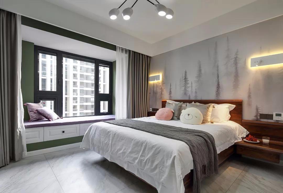 2020混搭卧室装修设计图片 2020混搭背景墙装修设计