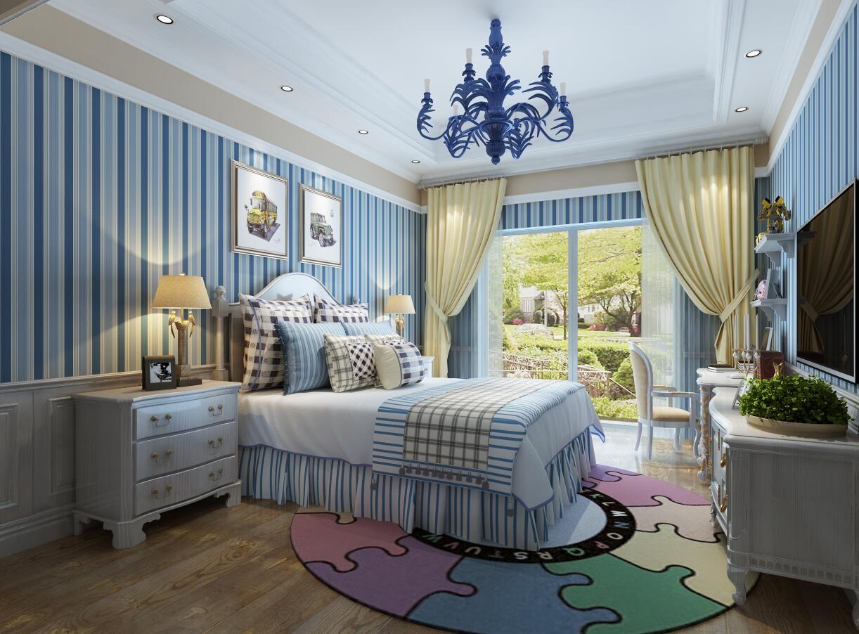 2020法式儿童房装饰设计 2020法式背景墙装修图