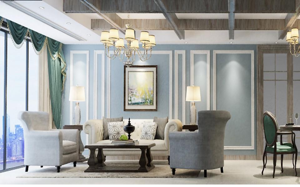 2020法式客厅装修设计 2020法式背景墙图片
