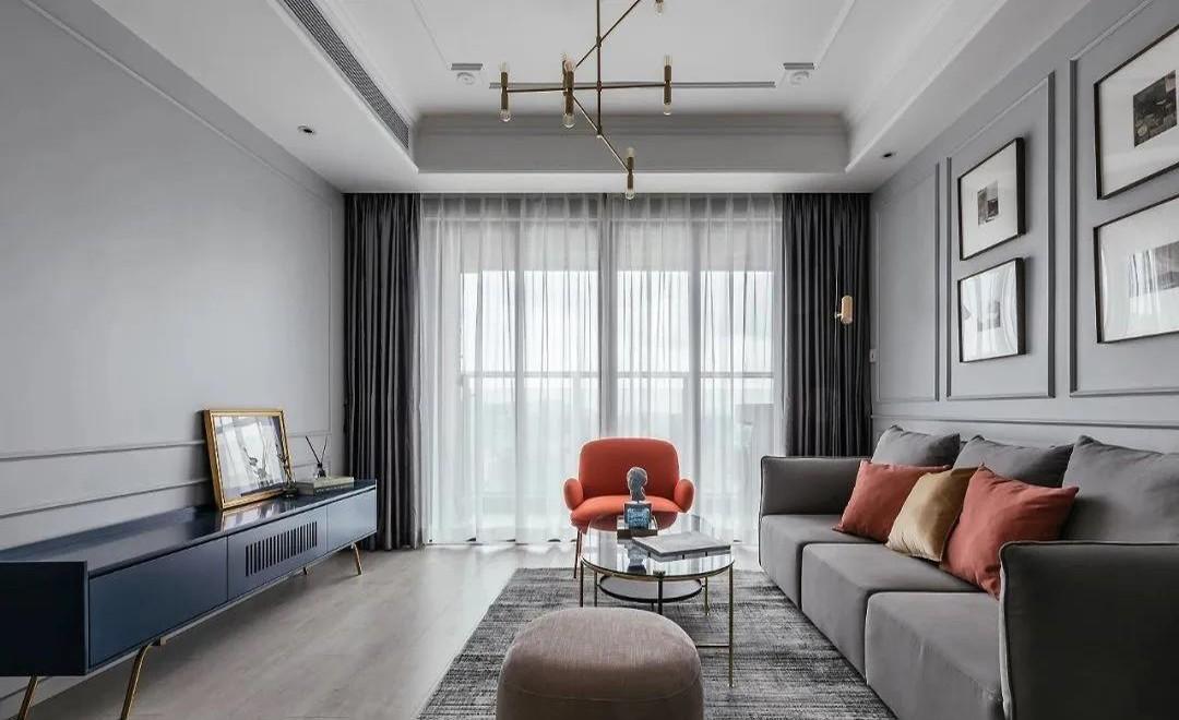 典范新城國際93㎡美式風兩居室,全包才花了7.3萬!