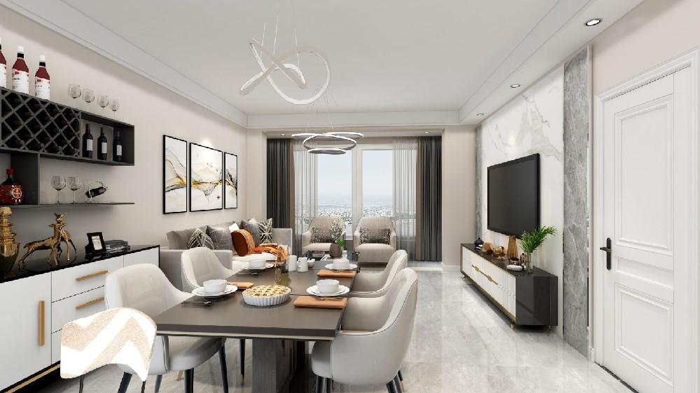 2021现代简约110平米装修设计 2021现代简约套房设计图片