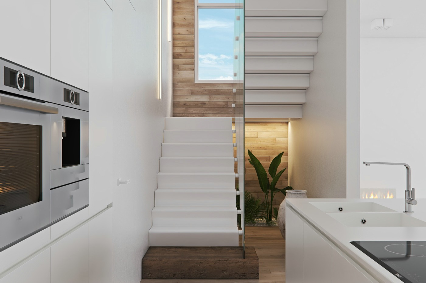 2021北欧客厅装修设计 2021北欧楼梯装修设计