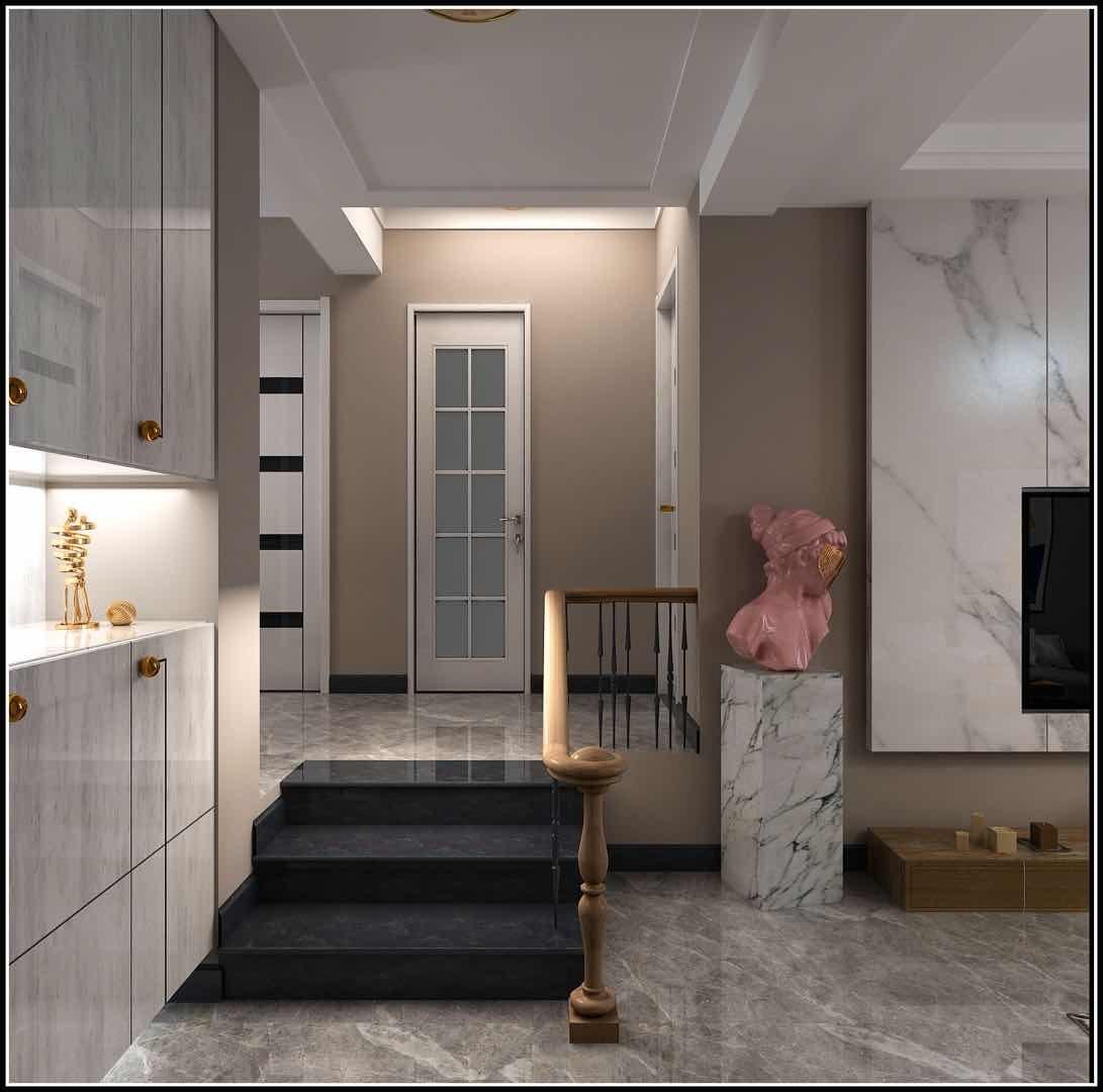 2021后现代客厅装修设计 2021后现代楼梯装修图