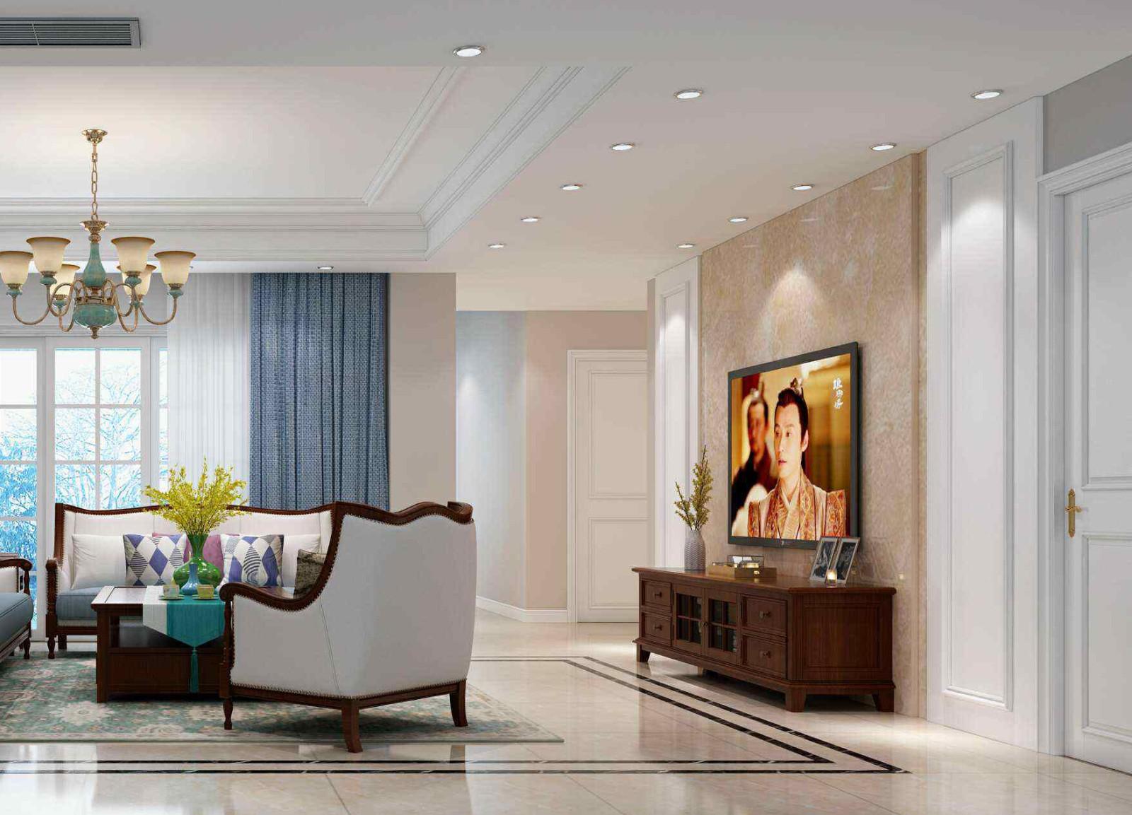 2021美式300平米以上装修效果图片 2021美式庭院装修效果图大全
