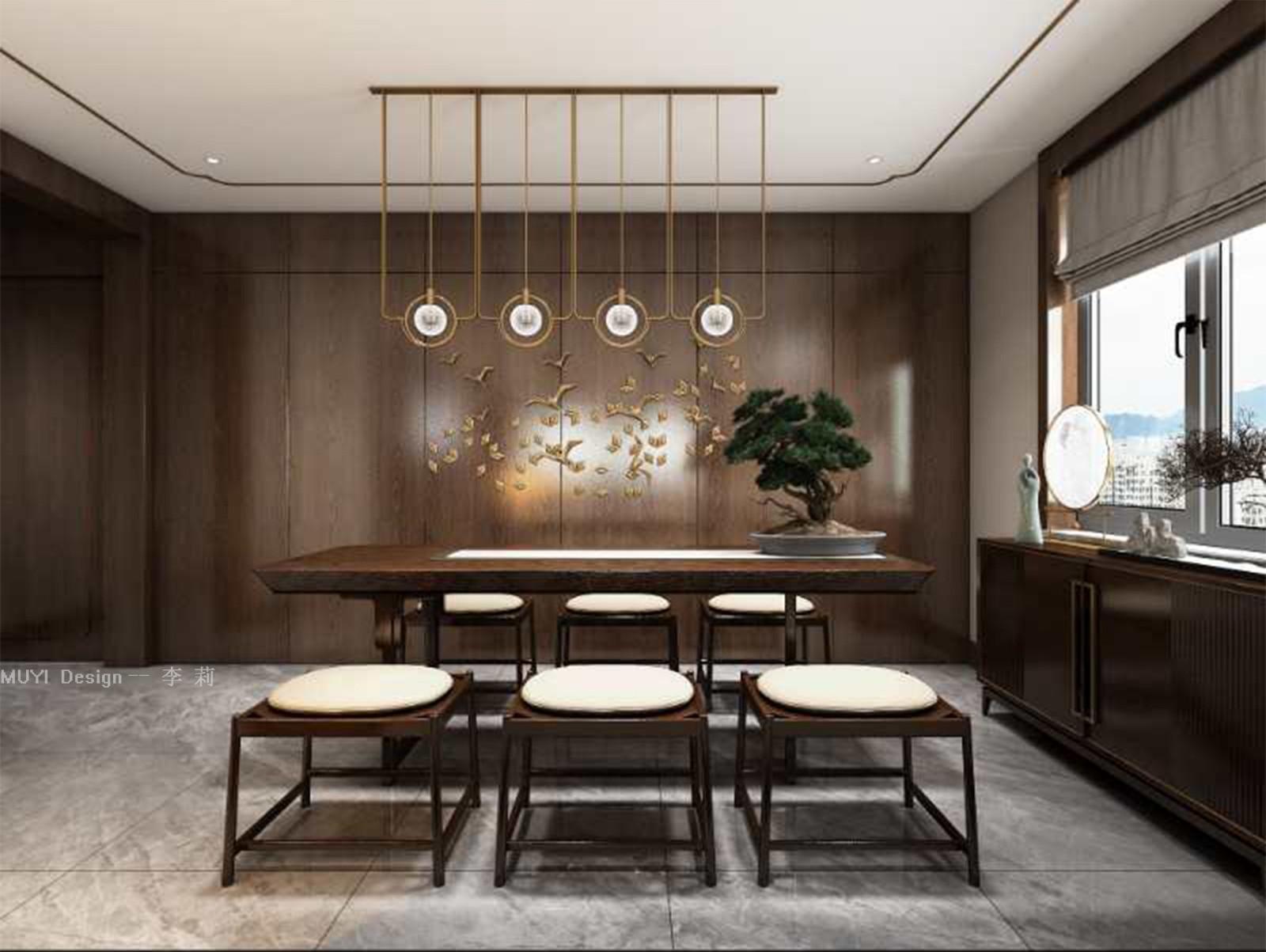 2021新中式书房装修设计 2021新中式酒窖装饰设计