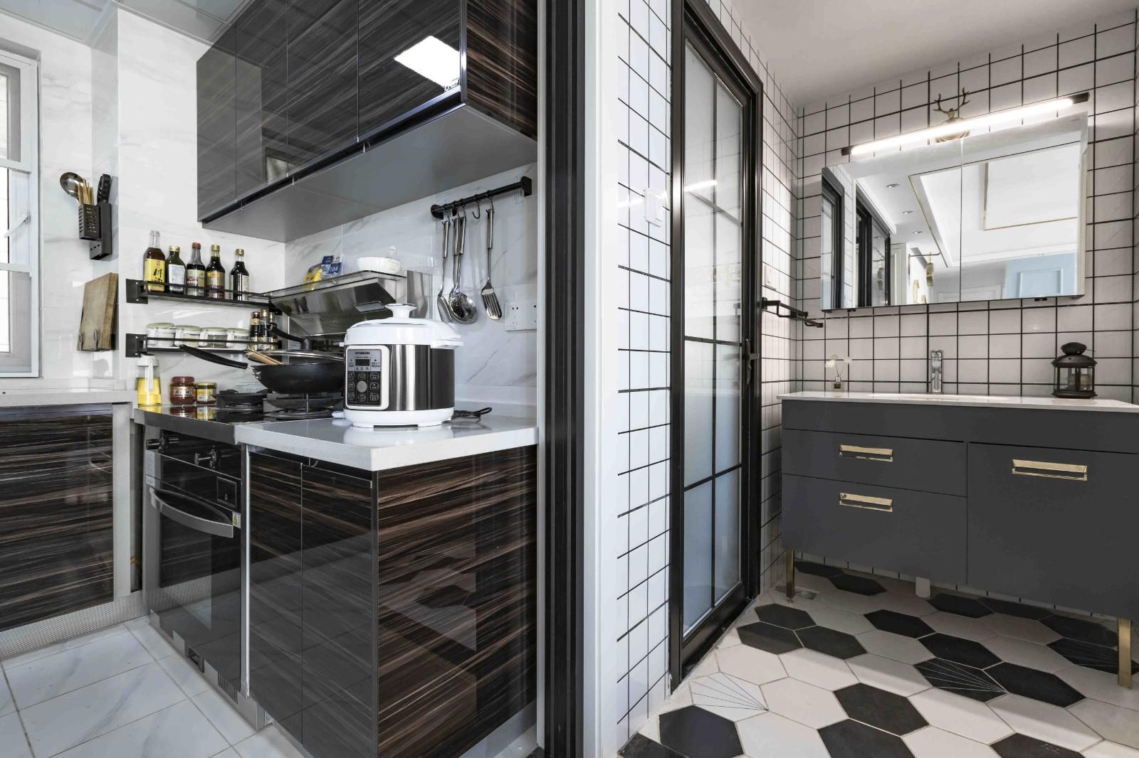 2021混搭厨房装修图 2021混搭推拉门装修设计