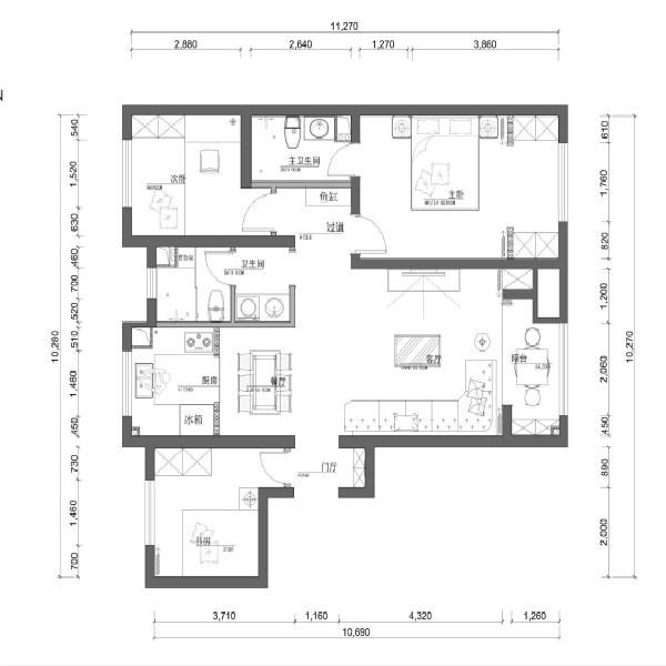 2021简约客厅装修设计 2021简约过道图片