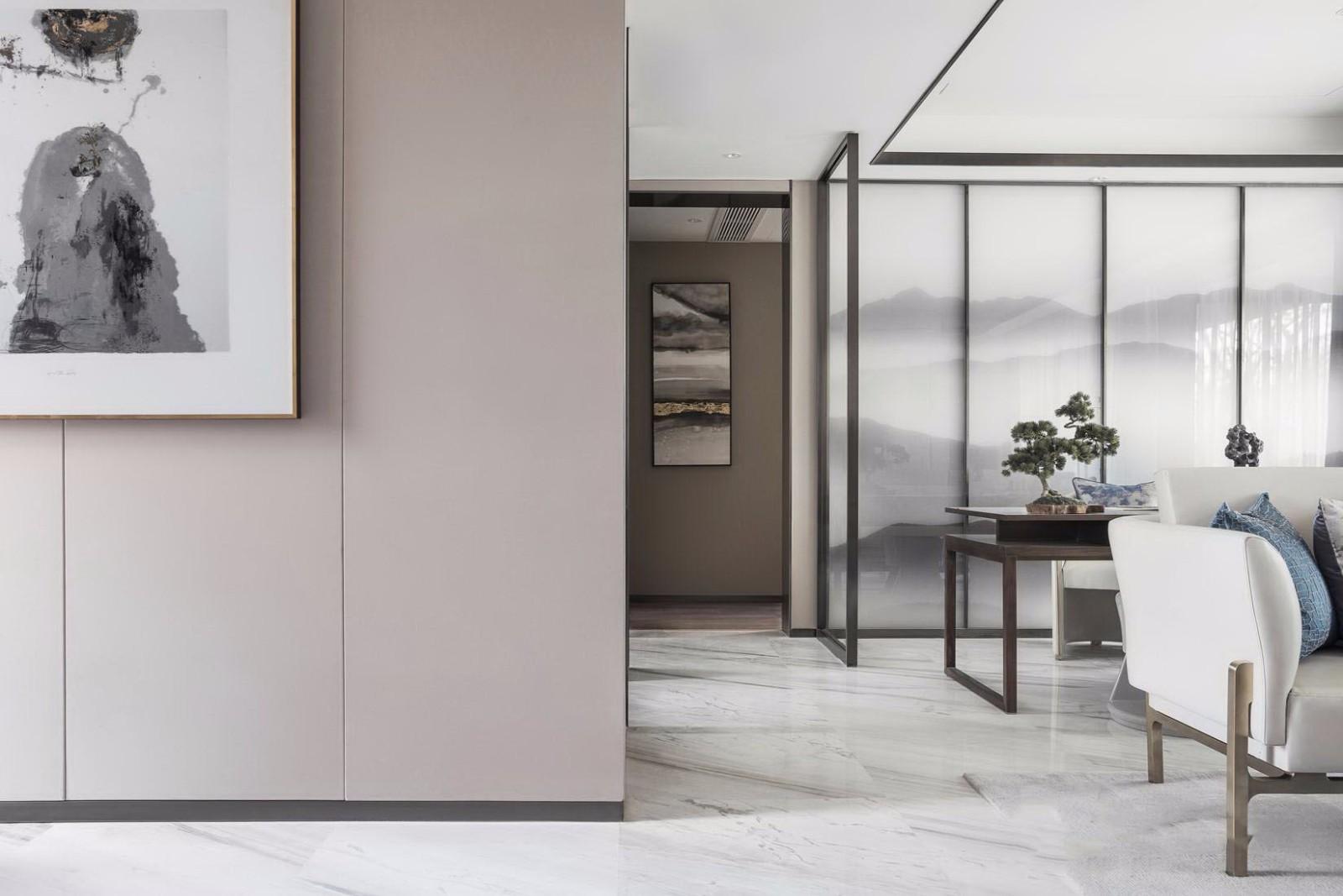 2021中式客厅装修设计 2021中式过道图片