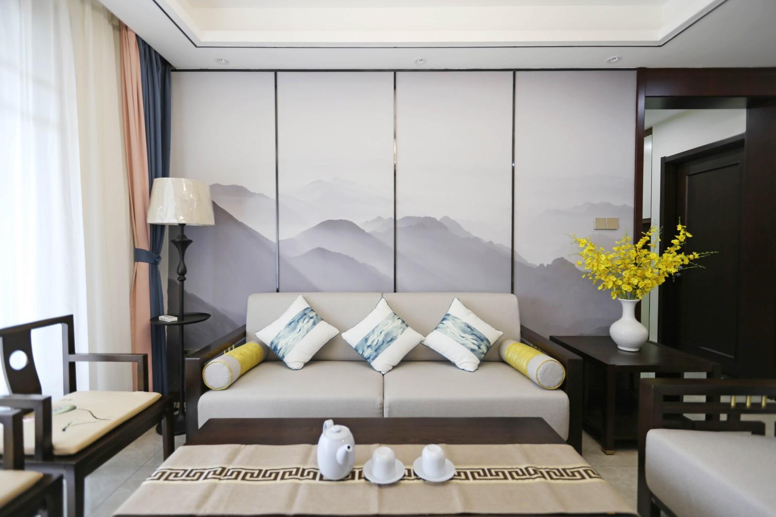 3室2卫2厅118平米新中式风格