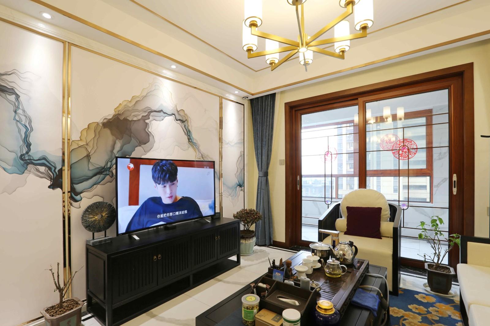 3室2卫2厅124平米新中式风格
