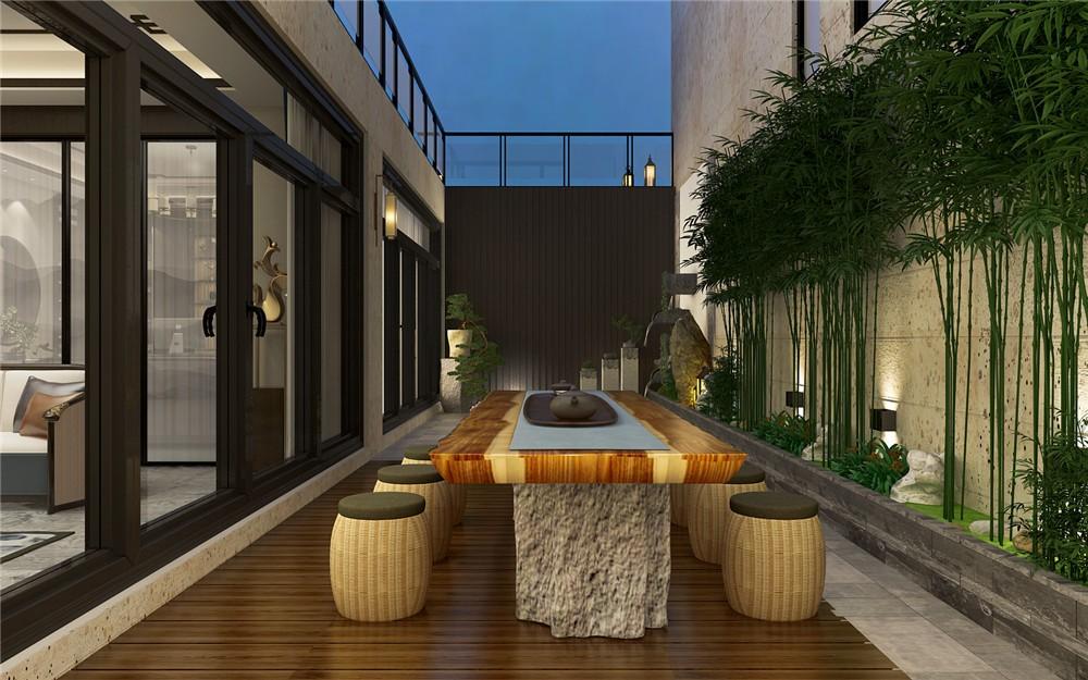 2021新中式花园设计图片 2021新中式茶几设计图片