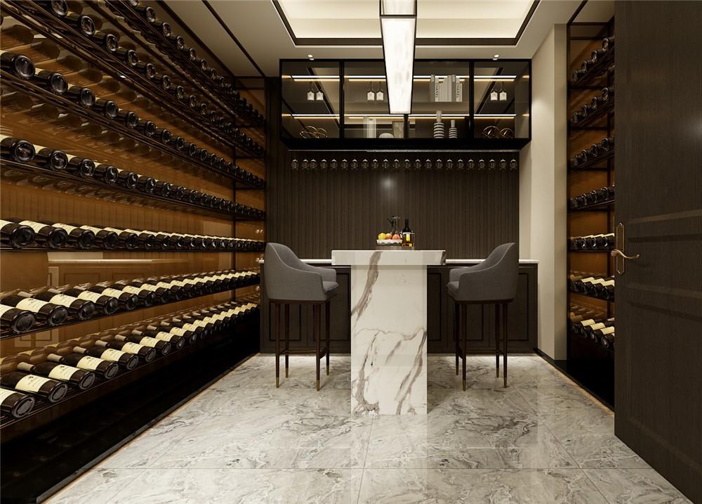 2021新中式酒窖装修设计图片 2021新中式吧台装修图
