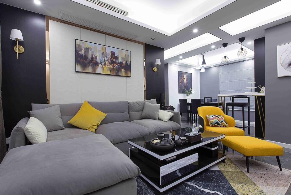 3室1卫2厅128平米现代简约风格