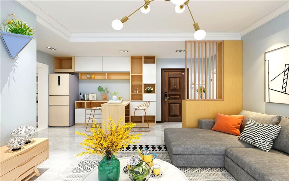 2021简中70平米设计图片 2021简中二居室装修设计