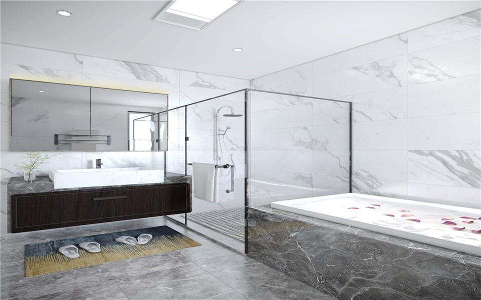 2021现代中式卫生间装修图片 2021现代中式洗漱台装饰设计