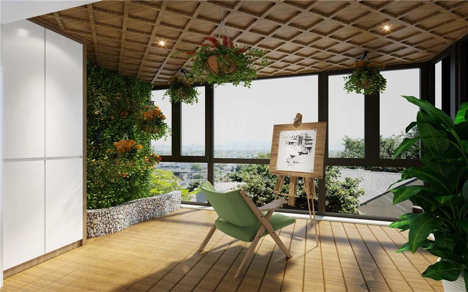 2021现代简约阳台装修效果图大全 2021现代简约窗台图片
