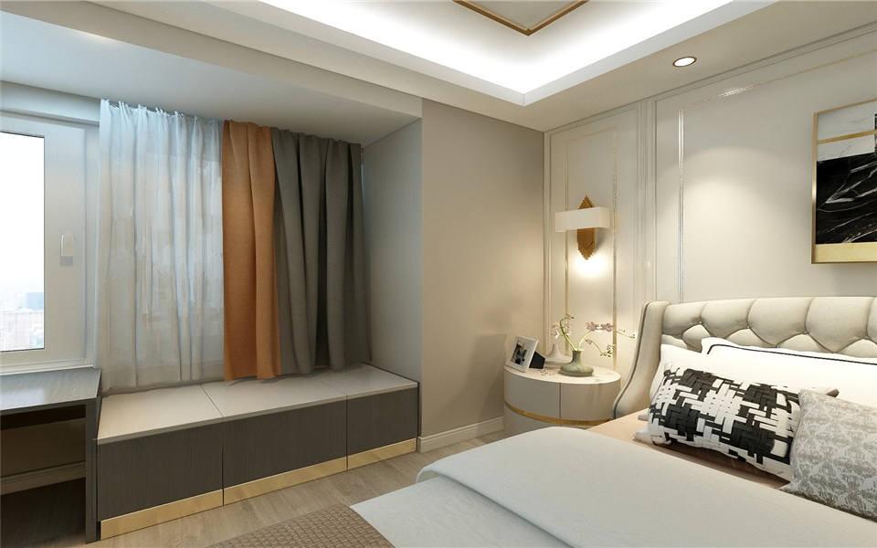 2021现代卧室装修设计图片 2021现代飘窗图片