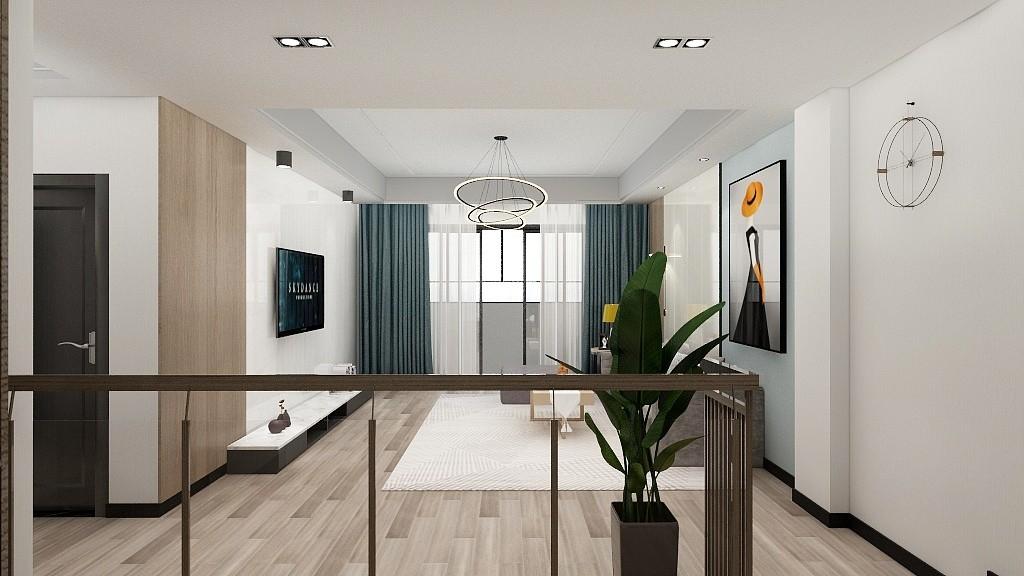 2021现代简约客厅装修设计 2021现代简约楼梯装修设计