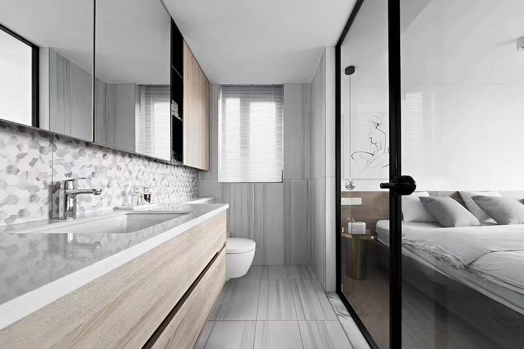 2021现代简约浴室设计图片 2021现代简约洗漱台装修设计