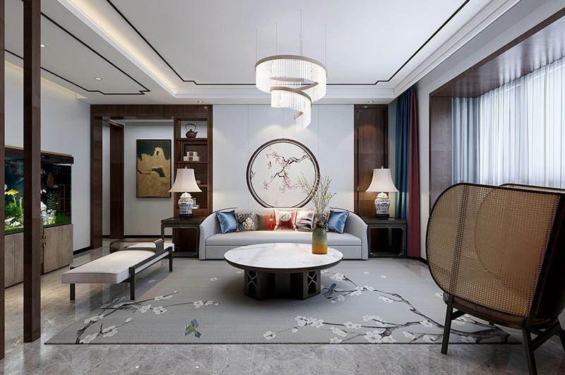 2021新中式客厅装修设计 2021新中式飘窗装饰设计