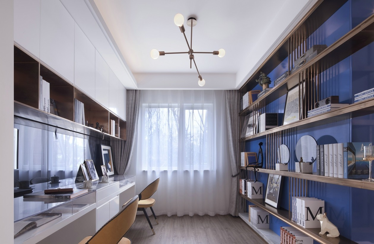 2021中式书房装修设计 2021中式窗帘装修图