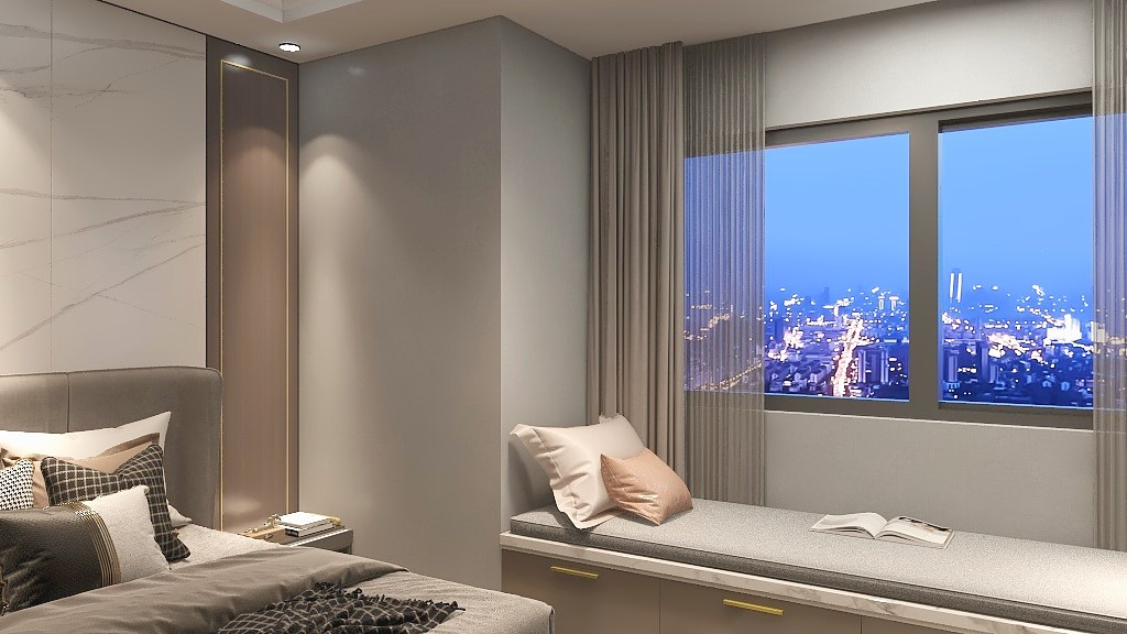 2021简约卧室装修设计图片 2021简约飘窗图片