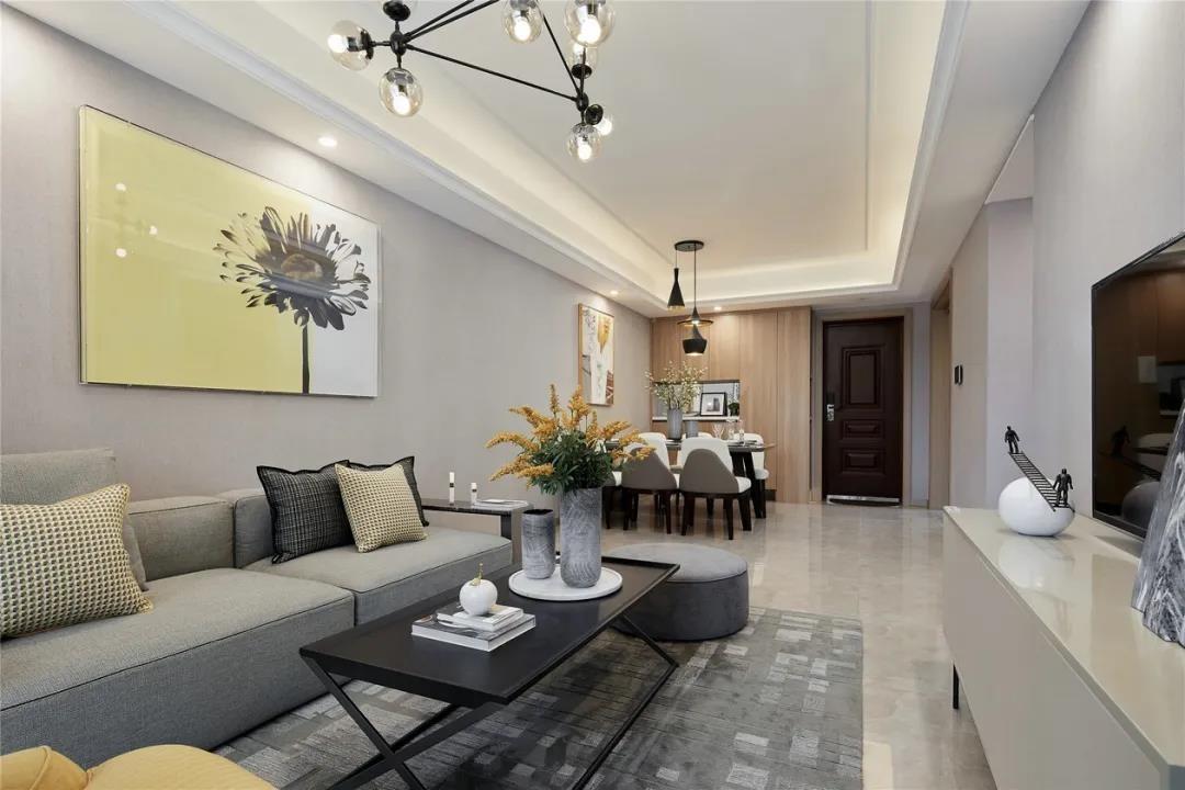 98平现代三居室,简单明快,惬意舒适!