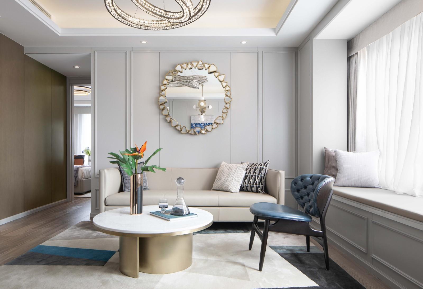 2021简约客厅装修设计 2021简约茶几装修效果图大全
