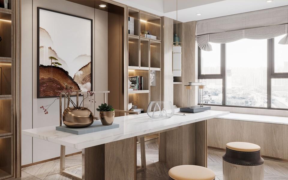 2021新古典150平米效果图 2021新古典四居室装修图