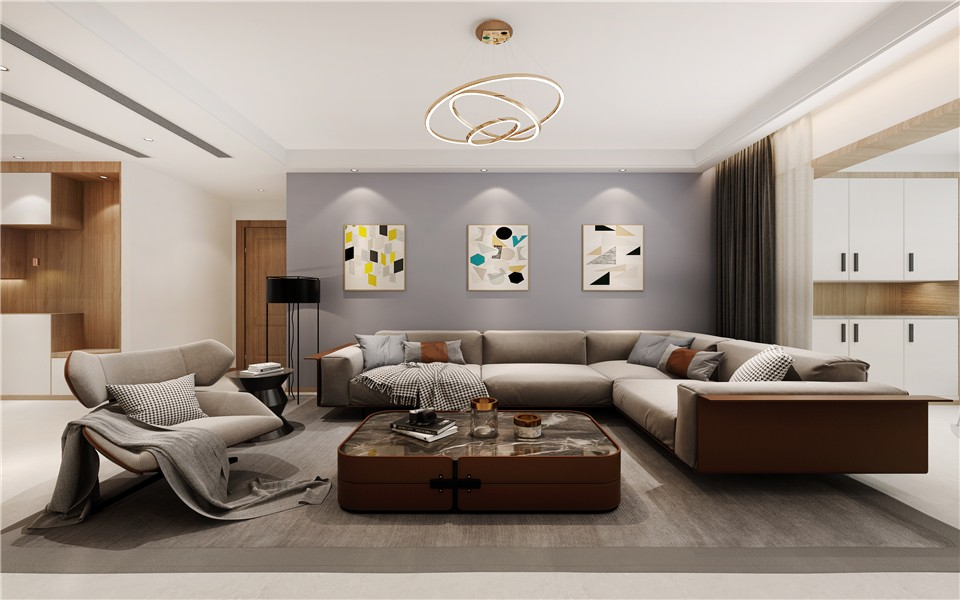 3室1卫2厅120平米现代简约风格