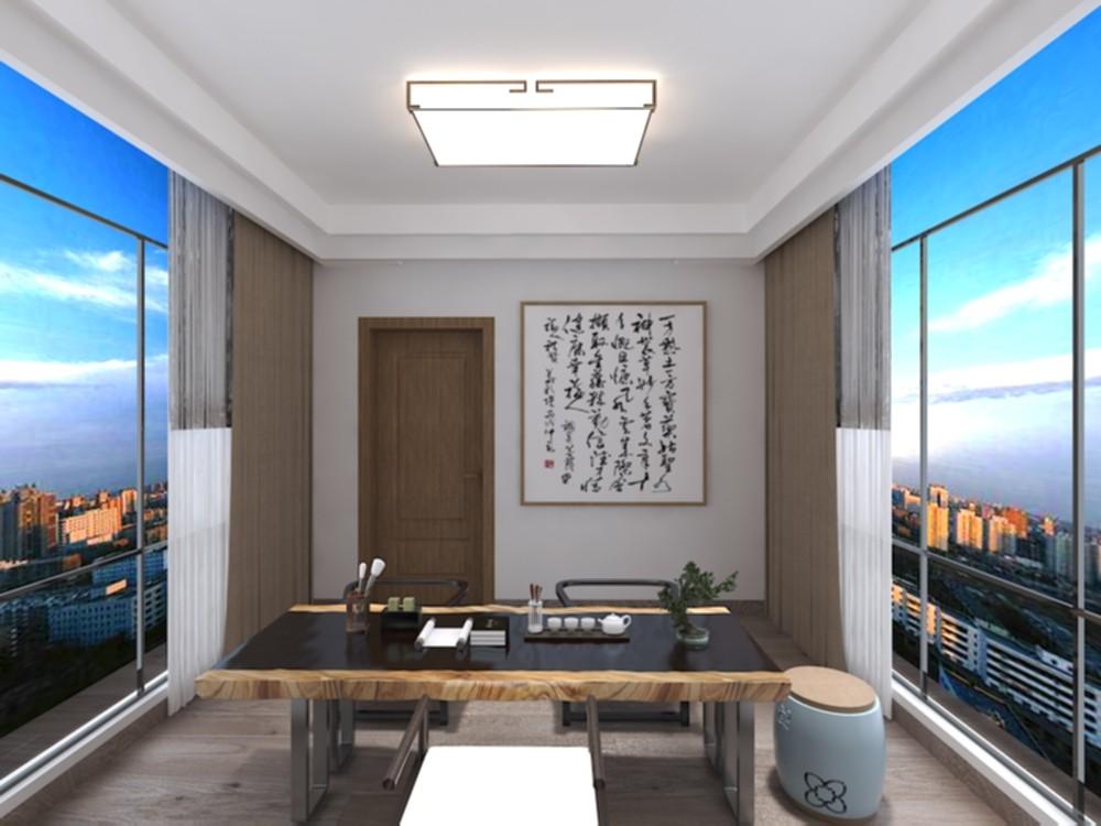2021新中式阳光房设计图片 2021新中式茶几装修效果图大全