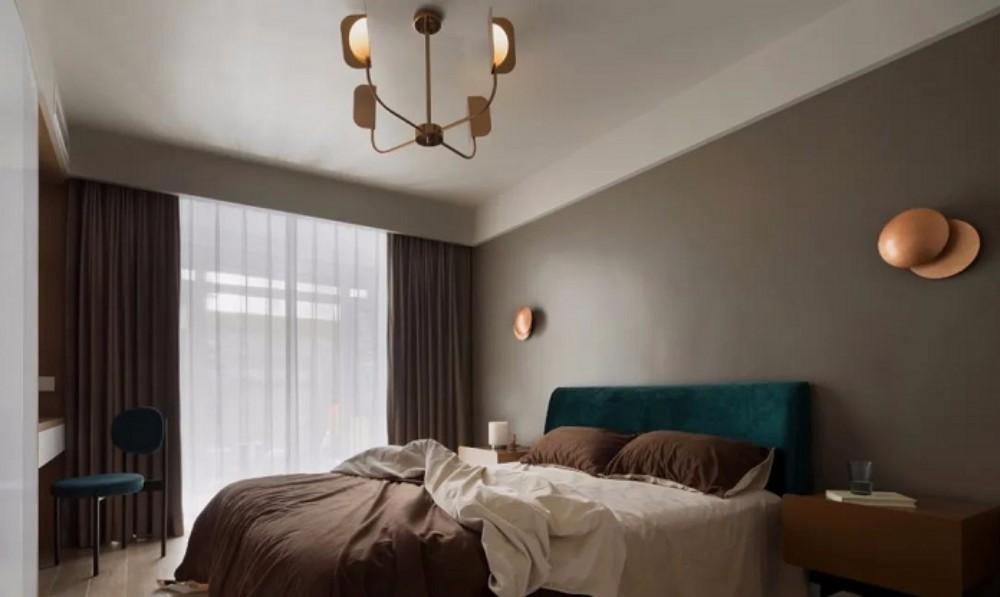 2021简约卧室装修设计图片 2021简约落地窗图片
