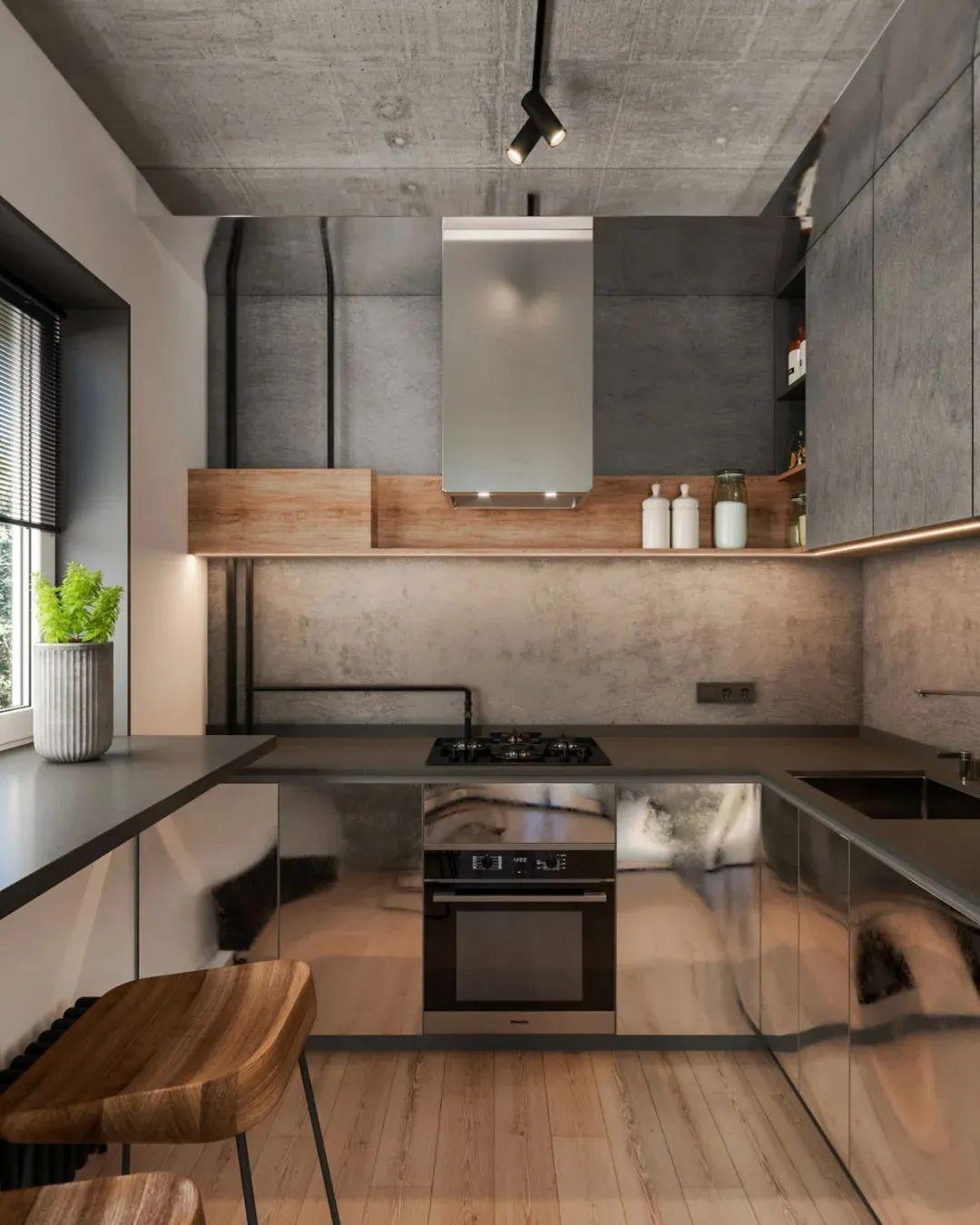 2021工业厨房装修图 2021工业吧台装修设计图片