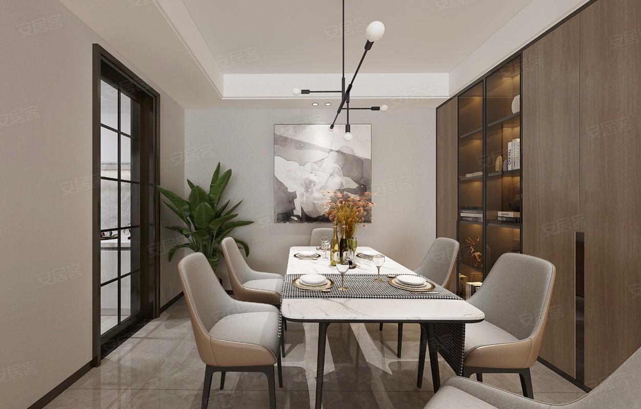 2021现代餐厅效果图 2021现代博古架装饰设计