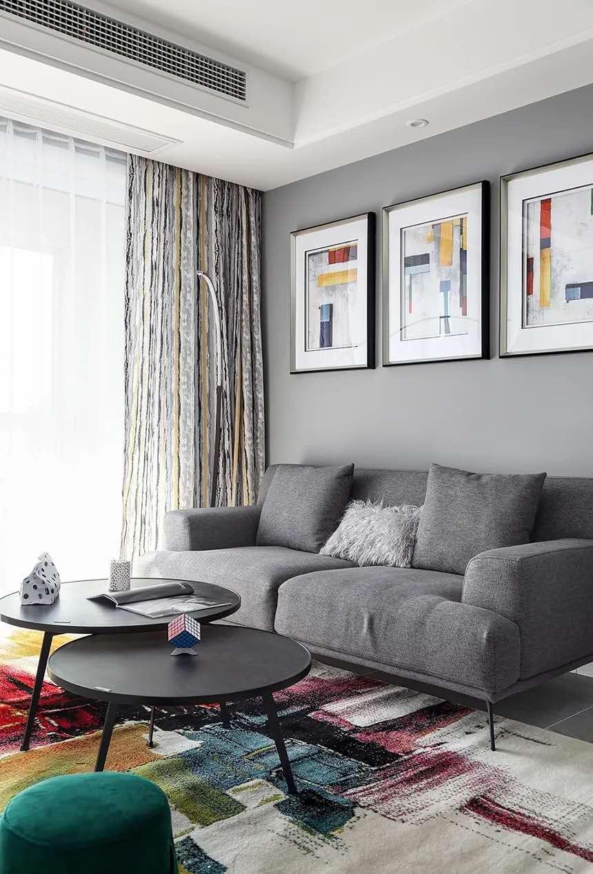 2021现代简约客厅装修设计 2021现代简约地板效果图