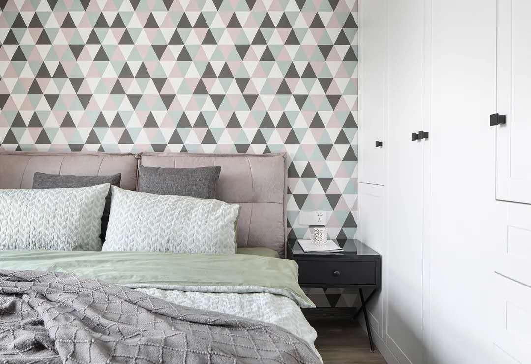 2021现代简约卧室装修设计图片 2021现代简约照片墙装修图