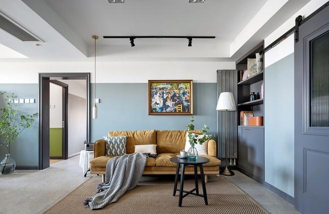 2021复古客厅装修设计 2021复古背景墙图片