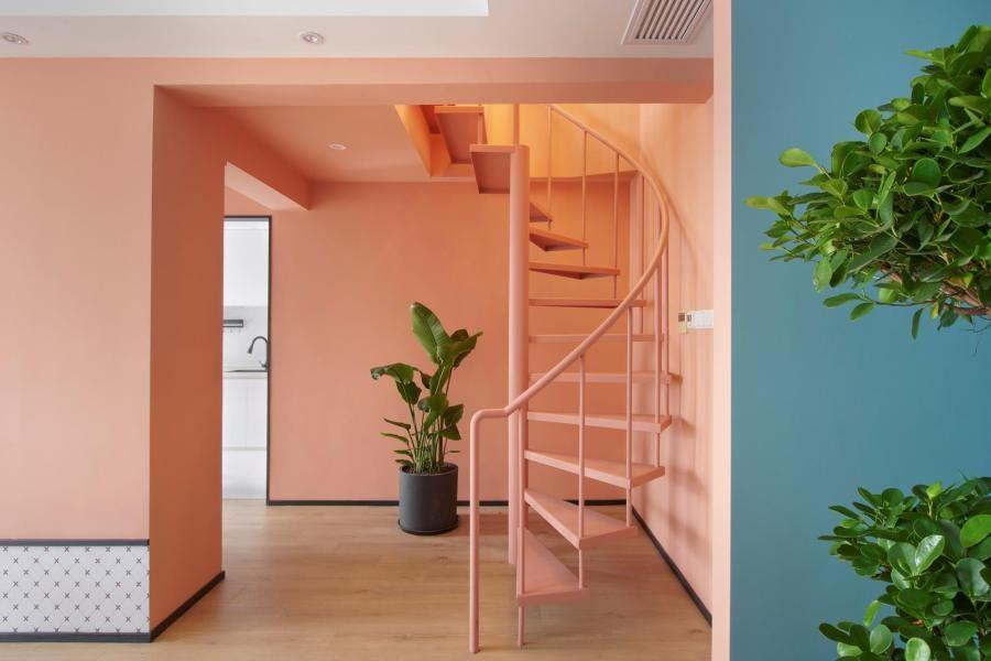 2021混搭玄关图片 2021混搭楼梯装修图