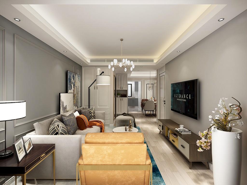 2021现代简约70平米设计图片 2021现代简约一居室装饰设计