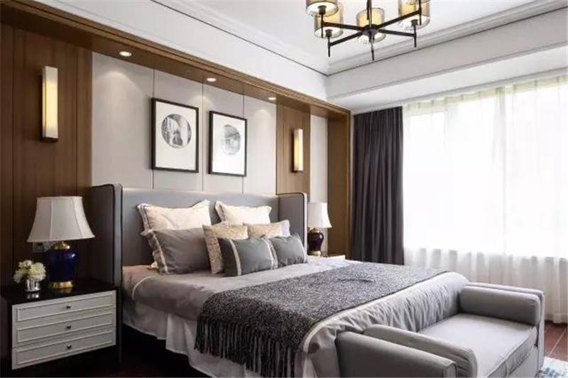 2021新中式卧室装修设计图片 2021新中式窗帘装修设计图片