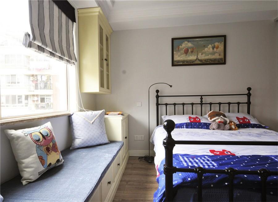 2021美式卧室装修设计图片 2021美式飘窗图片