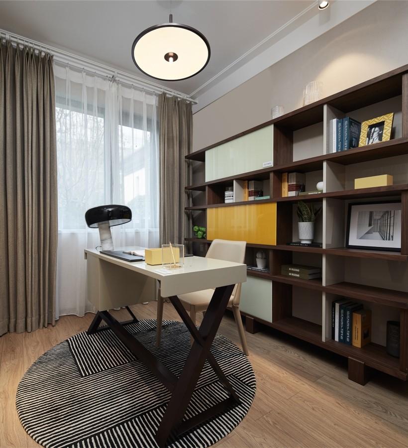 2021现代书房装修设计 2021现代书架装修图