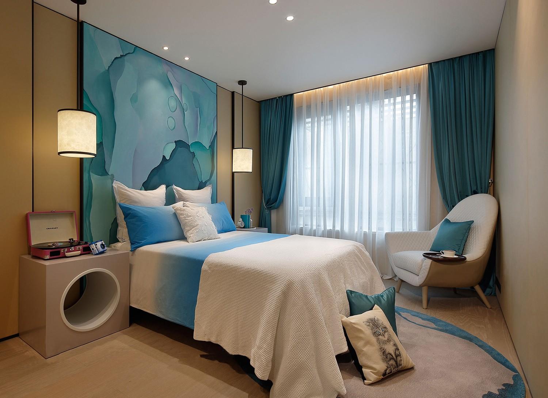 2021新中式儿童房装饰设计 2021新中式窗帘图片