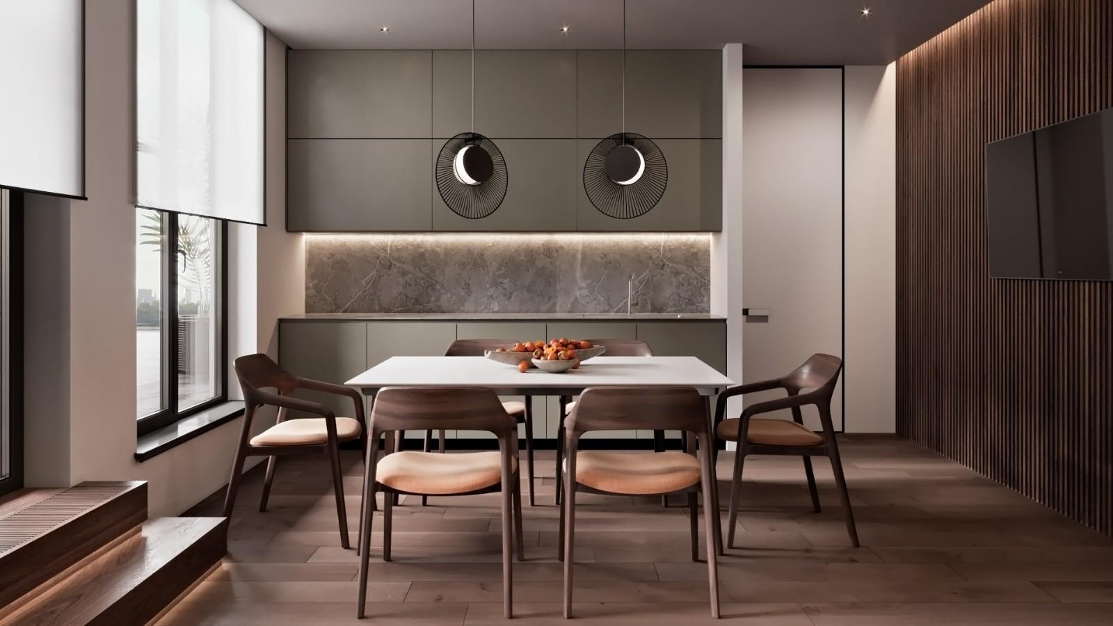 2021现代厨房装修图 2021现代吧台装修设计图片