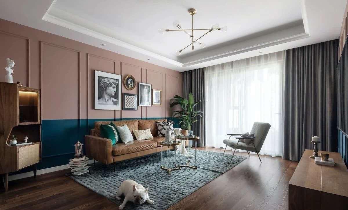 2021复古90平米装饰设计 2021复古三居室装修设计图片