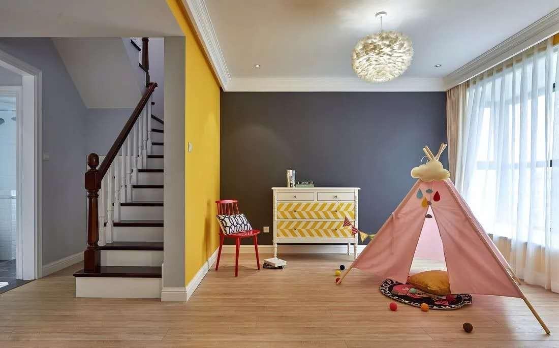 2021美式客厅装修设计 2021美式楼梯装修设计