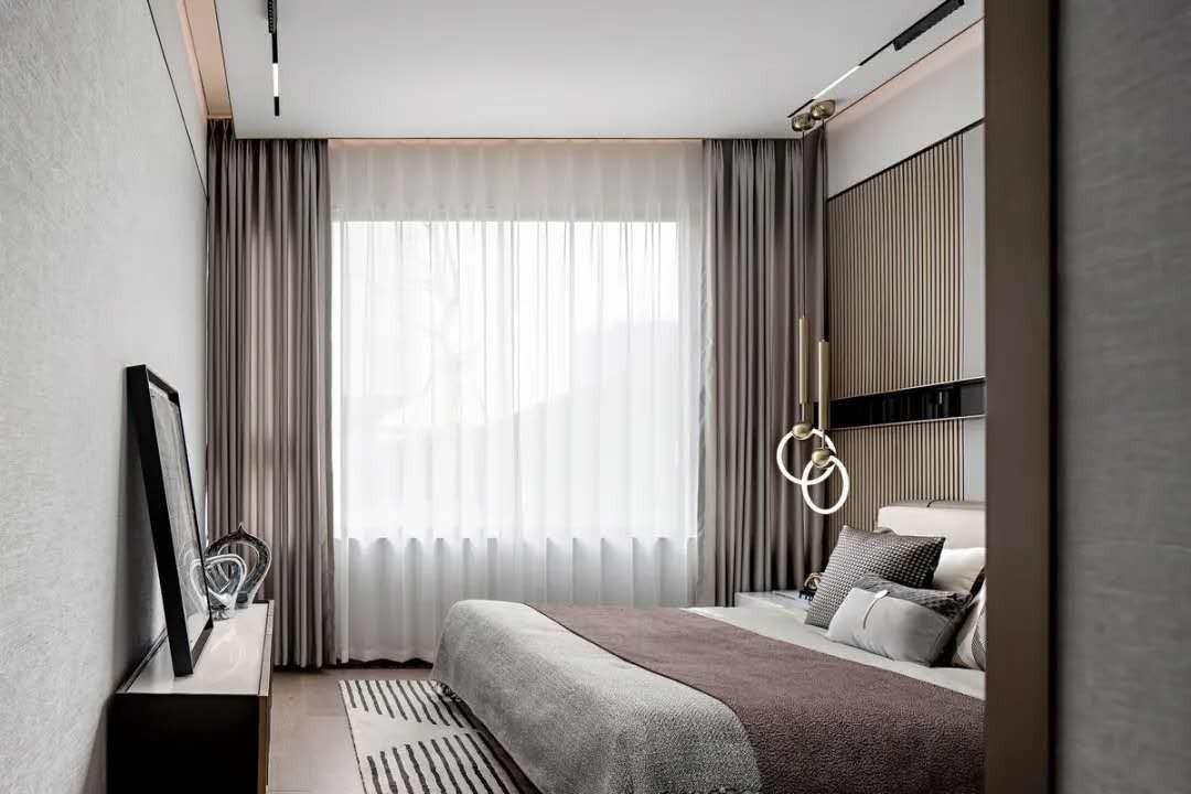 2021现代卧室装修设计图片 2021现代窗帘装修设计图片