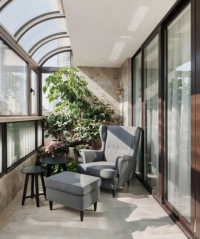 2021美式阳台装修效果图大全 2021美式落地窗装修效果图大全